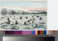 """Surf Bathing at Long Beach, Cal."""