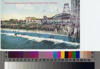 """Everyday Bathing Scene and Bathing Pavilion, Venice, California"""