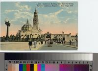 """California Building from Cabrillo Bridge, Panama-California Exposition, San..."