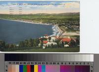 """VIEW OF SOUTH BAY BEACHES FROM PALOS VERDE [sic] ESTATES, CALIFORNIA"""