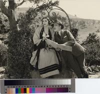 """The Girl from Montmartre"" filming at La Venta Inn, Palos Verdes Estates, California..."