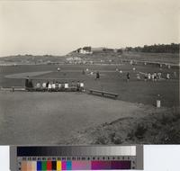 Baseball game at Malaga Cove School, Palos Verdes Estates, California