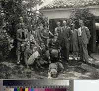 Berkeley landscape architecture students visit the Gibbs residence, 2708 Via...