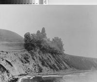 "Bluff Cove and the ""Douglas Cut"" blast, Palos Verdes Estates, California."