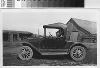 """Buick roadster parked at the Phillips """"new"""" ranch."""