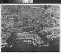 Aerial view of Abalone Cove and Portuguese Bend, Rancho Palos Verdes.