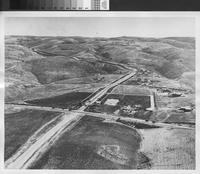 Aerial view of Portuguese Bend Road, Rolling Hills.