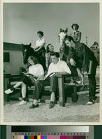 Group of students seated outdoors
