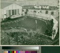 Backyard of building