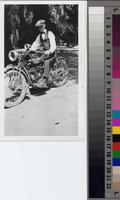 Boyd Peterson on a motorcycle