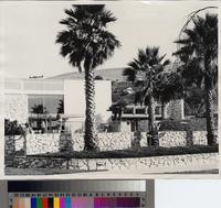 Pool and auditorium, Marymount College, Rancho Palos Verdes, California