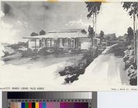 Miraleste Library artist's sketch