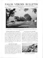 Palos Verdes Bulletin, November 1925. Volume 1. Number 12
