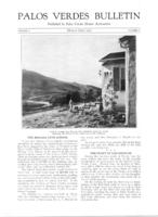 Palos Verdes Bulletin, March-April 1925. Volume 1. Number 5
