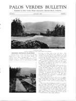 Palos Verdes Bulletin, January 1925. Volume 1. Number 3