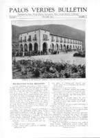 Palos Verdes Bulletin, October 1925. Volume 1. Number 11