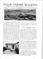 Palos Verdes Bulletin, September 1925. Volume 1. Number 10