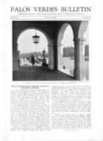 Palos Verdes Bulletin, January 1926. Volume 2. Number 1