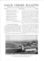 Palos Verdes Bulletin, February 1926. Volume 2. Number 2