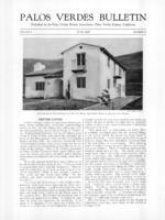 Palos Verdes Bulletin, June 1926. Volume 2. Number 6