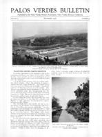 Palos Verdes Bulletin, September 1926. Volume 2. Number 9