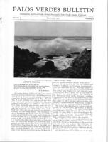Palos Verdes Bulletin, September 1927. Volume 3. Number 8