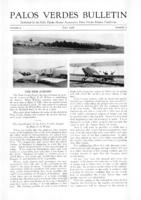 Palos Verdes Bulletin, July 1928. Volume 4. Number 7
