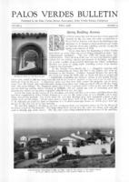Palos Verdes Bulletin, April 1928. Volume 4. Number 4
