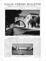 Palos Verdes Bulletin, December 1929. Volume 5. Number 12