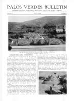 Palos Verdes Bulletin, May 1929. Volume 5. Number 5