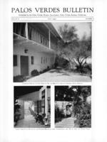 Palos Verdes Bulletin, July 1930. Volume 6. Number 7
