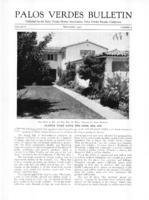Palos Verdes Bulletin, September 1930. Volume 6. Number 9