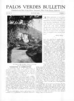 Palos Verdes Bulletin, January 1931. Volume 7. Number 1
