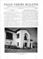 Palos Verdes Bulletin, February 1931. Volume 7. Number 2