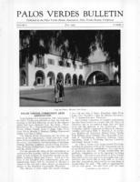 Palos Verdes Bulletin, July 1931. Volume 7. Number 7