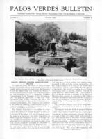 Palos Verdes Bulletin, August 1931. Volume 7. Number 8