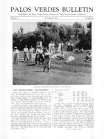 Palos Verdes Bulletin, September 1931. Volume 7. Number 9