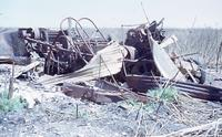 Mr. Peukert's thresher after the Crest Road fire