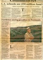 Gardener saying goodbye to Peninsula article