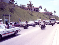 Olympic torch relay of Hawthorne boulevard