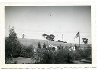 Palos Verdes College building with flagpole