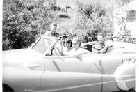 Convertible with five people