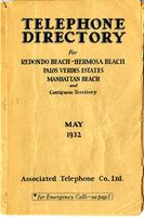 Telephone Directory May 1932