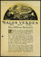 """Palos Verdes The New City Has Millions Behind It"""
