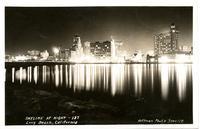 """SKYLINE AT NIGHT - 137 / Long Beach, California"""