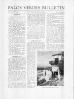 Palos Verdes Bulletin, February 1933. Volume 8. Number 5