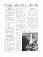 Palos Verdes Bulletin, April 1933. Volume 8. Number 7