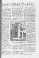 Palos Verdes Bulletin, March 1933. Volume 8. Number 6