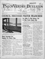 Palos Verdes Bulletin, 30 January 1941. Volume 8. Number 9