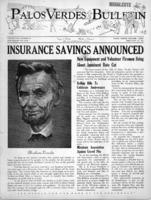 Palos Verdes Bulletin, 13 February 1941. Volume 8. Number 9